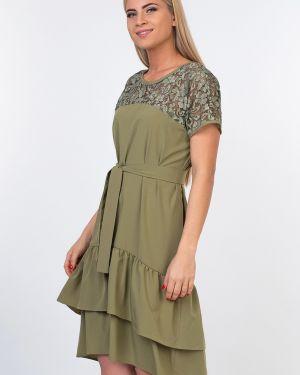 Хлопковое платье - зеленое Kapsula