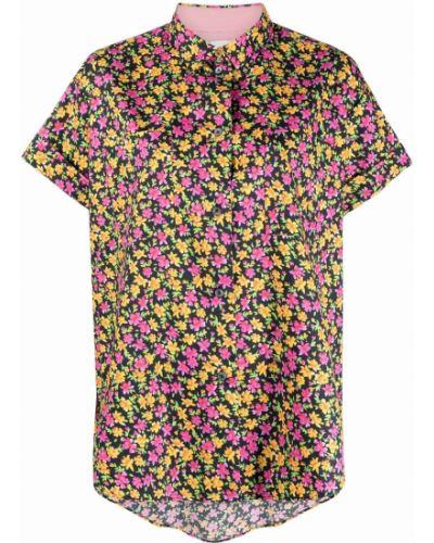 Шелковая черная классическая рубашка с короткими рукавами Paul Smith