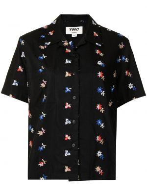 Czarna koszula z haftem Ymc