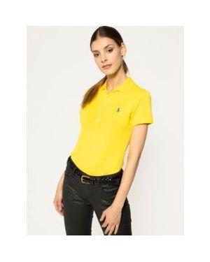 Żółte polo bawełniane Polo Ralph Lauren