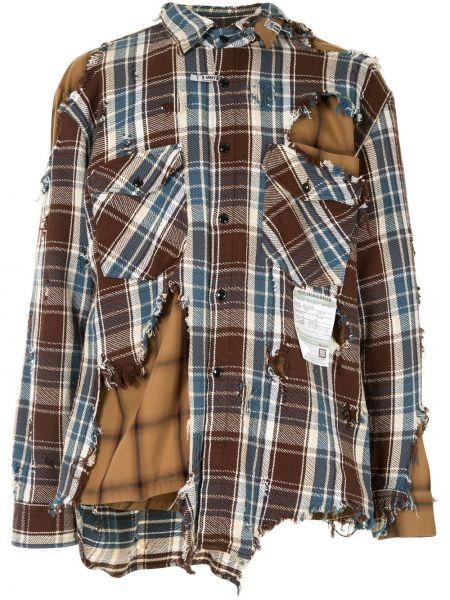 Классическая коричневая классическая рубашка с воротником на пуговицах Maison Mihara Yasuhiro