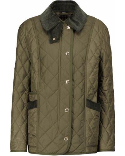 Зеленая стеганая куртка Burberry