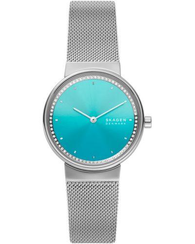 Niebieski zegarek srebrny Skagen