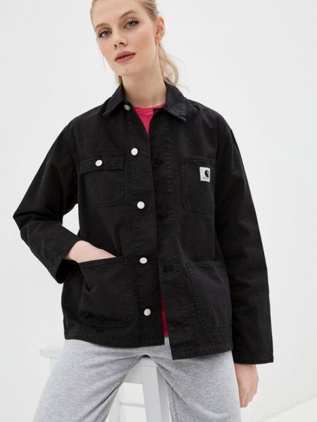 Черная джинсовая куртка Carhartt
