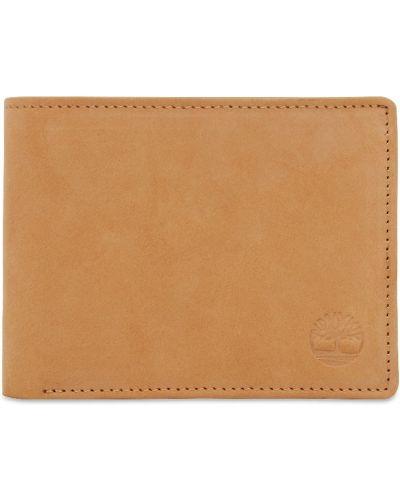 Желтый кожаный кошелек для монет с карманами Timberland