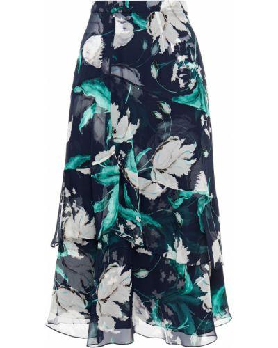 Шелковая юбка миди Erdem