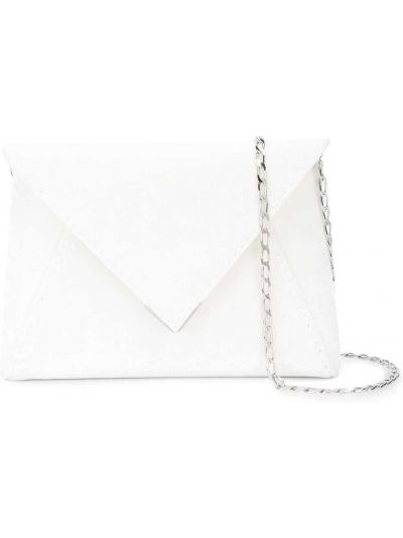 Белая шелковая сумка на плечо с карманами Tyler Ellis