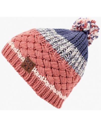 Розовая шапка осенняя Roxy
