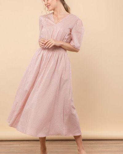 Персиковое платье с подкладкой Mr520