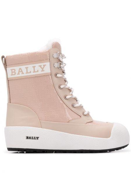 Ботильоны на каблуке - белые Bally