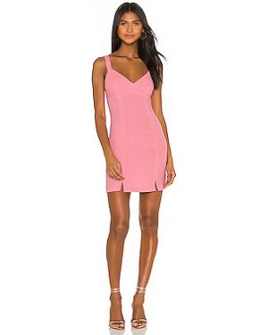 Розовое платье мини из крепа с вырезом с подкладкой Bcbgeneration