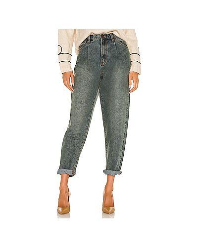 Хлопковые прямые джинсы на молнии One Teaspoon