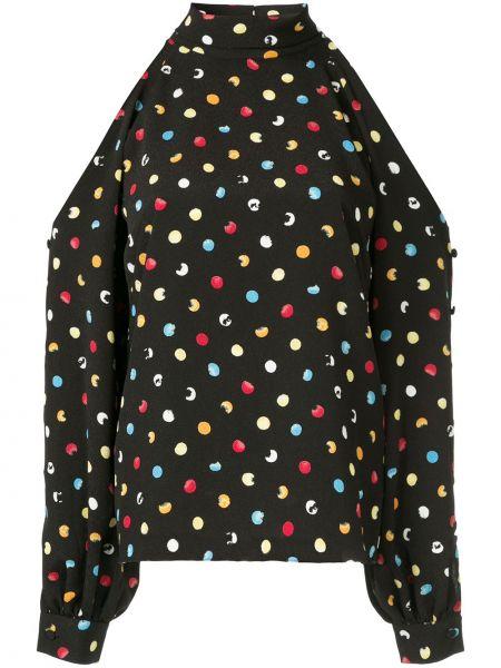 Блузка в горошек черная Anna October