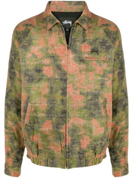 Длинная куртка - зеленая Stussy