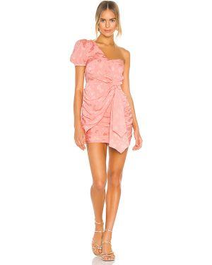 Sukienka mini z suwakiem różowa Majorelle