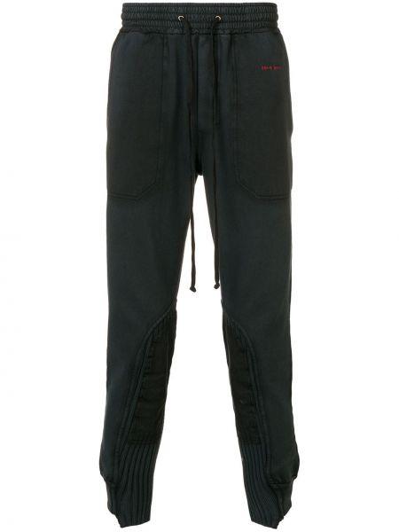 Prążkowane czarne spodnie bawełniane Damir Doma