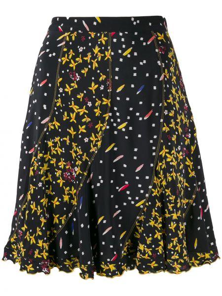 Юбка мини с завышенной талией с цветочным принтом Derek Lam 10 Crosby