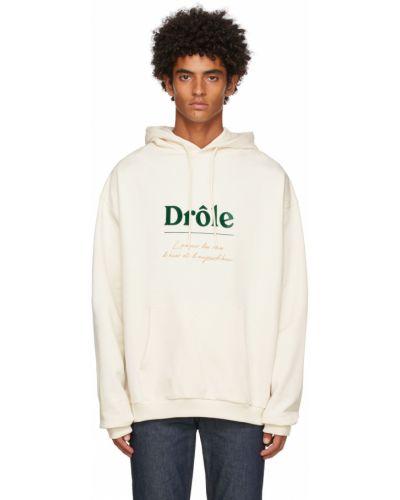 Biała bluza z haftem Drole De Monsieur