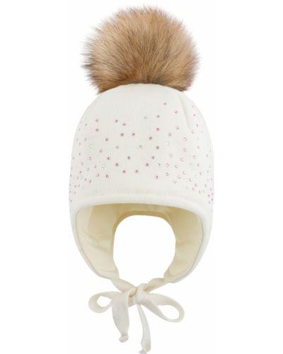 Зимняя шапка молочный Mothercare