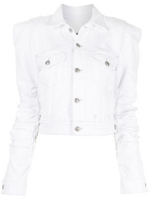 Ватная белая джинсовая куртка с воротником R13