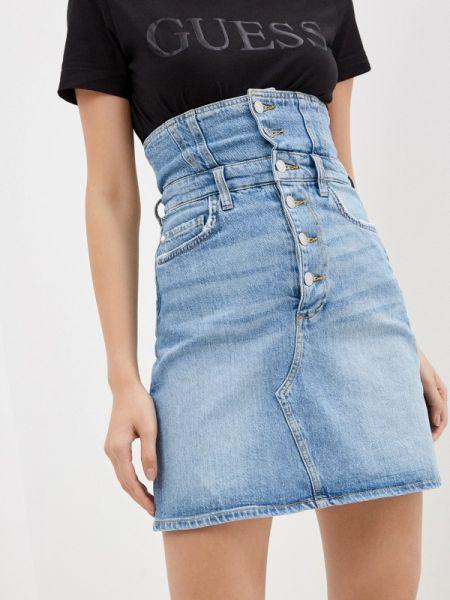 Джинсовая юбка синяя весенняя Guess Jeans