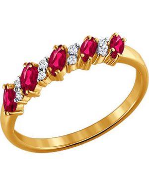 Кольцо из золота розовый Sokolov