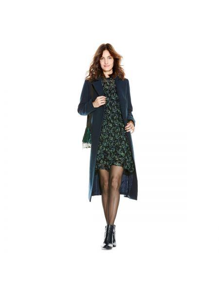 Длинное пальто шерстяное с воротником La Redoute Collections