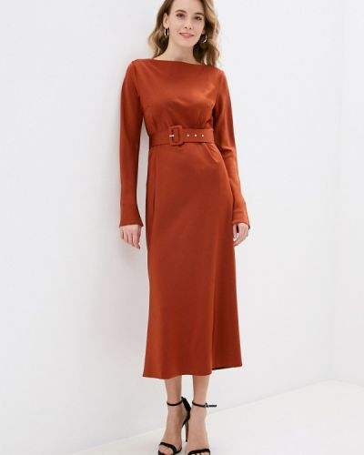 Коричневое прямое платье Y.o.u.