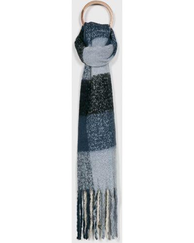 Шарф с бахромой темно-синий Answear