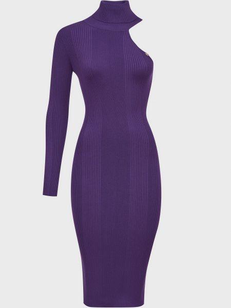 Шелковое платье - фиолетовое Elisabetta Franchi