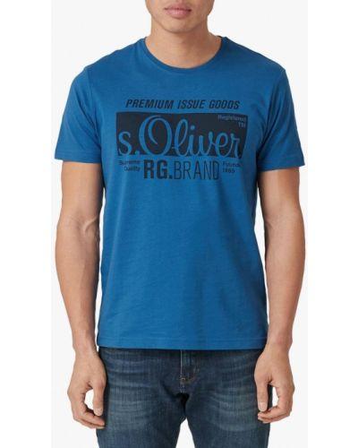 Футболка синий оливковый S.oliver