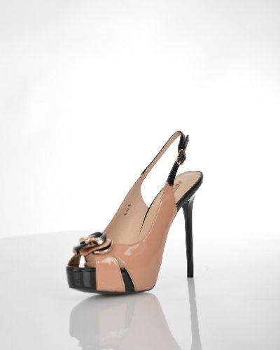 Босоножки на шпильке черные на каблуке Vitacci