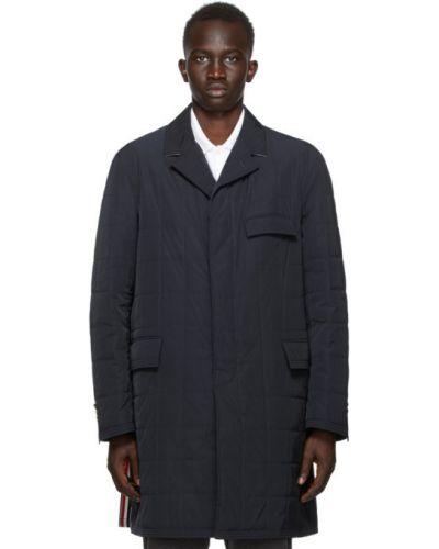 Стеганое пуховое длинное пальто с воротником Thom Browne