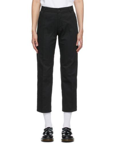 Czarne spodnie bawełniane z paskiem Noon Goons