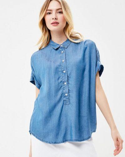 Синяя рубашка с коротким рукавом Mustang