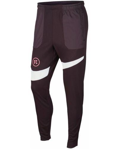 Prążkowane spodnie bordowe Nike