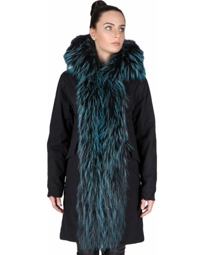 Черная куртка из енота Tsarevna