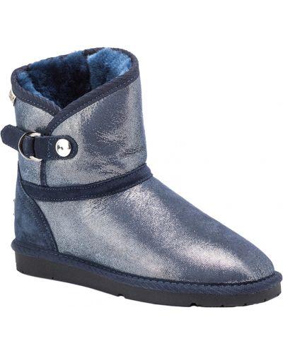 Кожаные угги - синие Koalabi