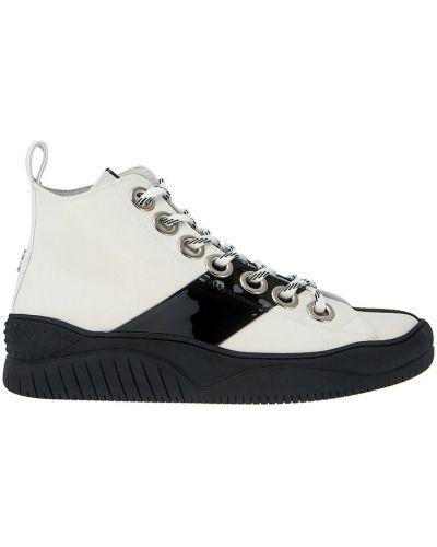 Ботинки на шнуровке кожаные спортивные No.21