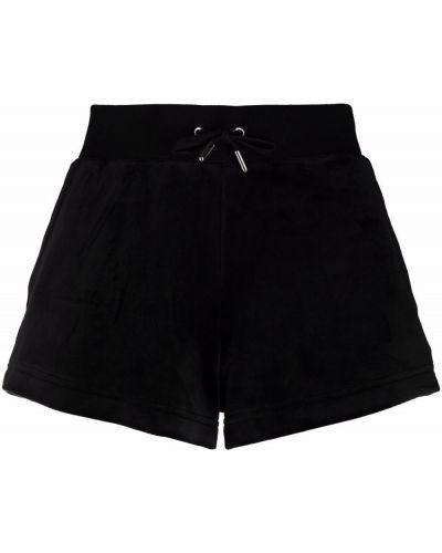 Черные шорты из эластана Juicy Couture