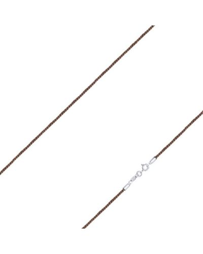 Цепочка из серебра серебряный коричневый Sokolov