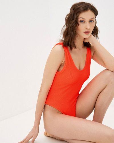 Оранжевый слитный купальник Guess Jeans