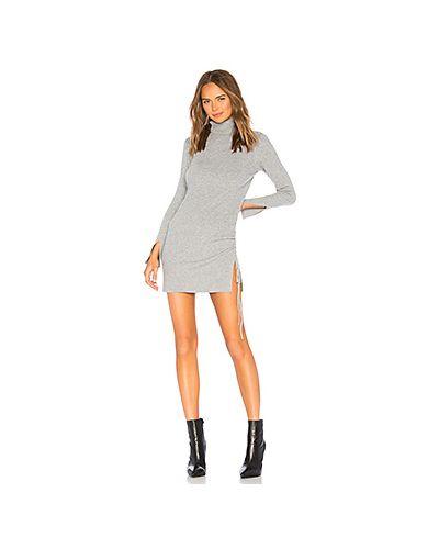 Вязаное платье платье-свитер в рубчик Lovers + Friends
