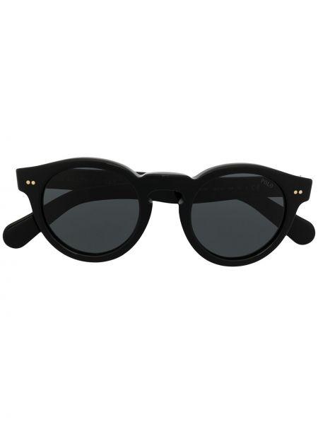 Migocący prosto czarny koszulka polo okrągły Polo Ralph Lauren