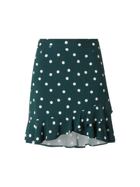 Spódniczka mini z falbanami - zielona Edited