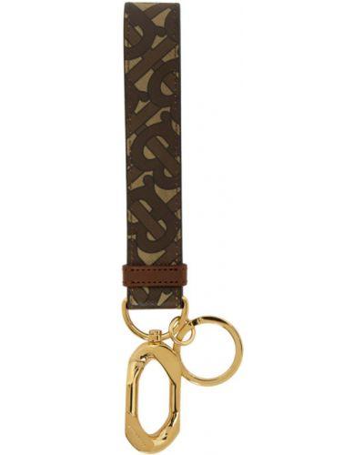 Brelok brązowy złoto Burberry