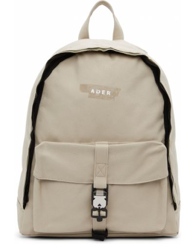 Czarny plecak na laptopa srebrny Ader Error