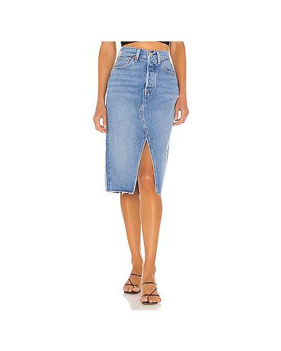 Хлопковая юбка с разрезом с карманами на пуговицах Levi's®