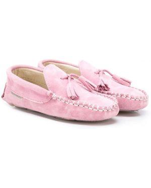 Мокасины замшевый розовый Babywalker