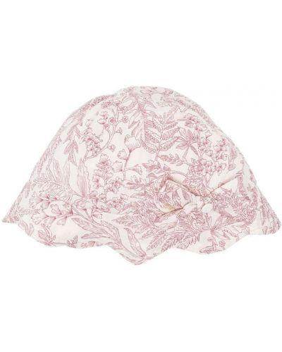 Biały kapelusz bawełniany w kwiaty Tartine Et Chocolat
